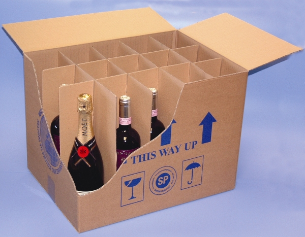 Packaging supplies - Bottle Dividers. Harrogate Self Storage.