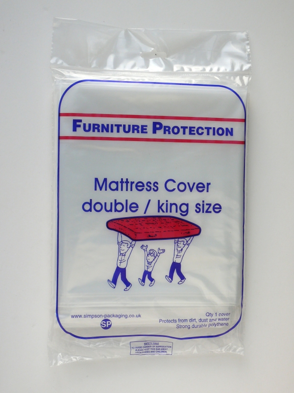 Packaging supplies - Double Mattress cover. Harrogate Self Storage.