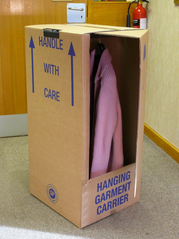 Packaging supplies - Wardrobe Box. Harrogate Self Storage.