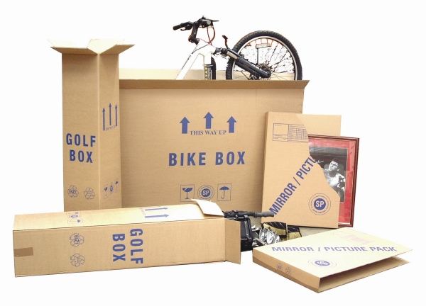 Packaging supplies - Golf Box, Bike Box, Mirror/Picture Pack. Harrogate Self Storage.
