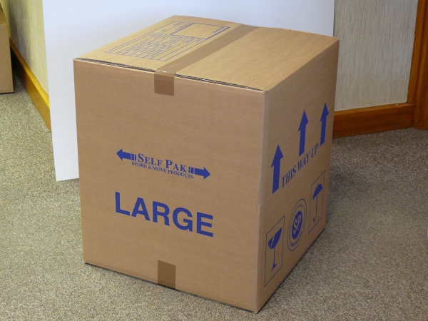 Packaging supplies - Large Cardboard Box. Harrogate Self Storage.