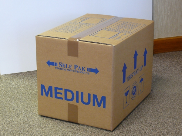 Packaging supplies - Medium Cardboard Box. Harrogate Self Storage.