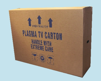 Packaging supplies - Plasma TV Box. Harrogate Self Storage.
