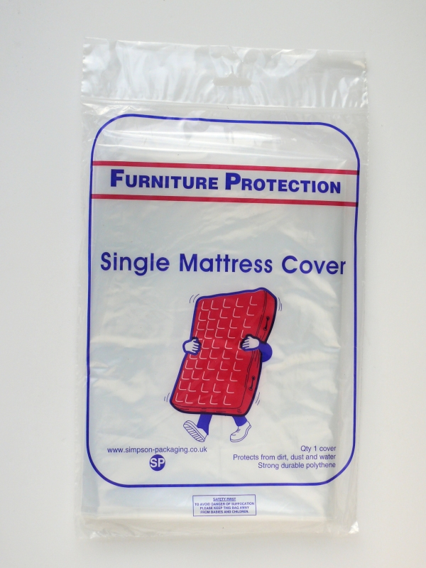 Packaging supplies - Single mattress cover. Harrogate Self Storage.